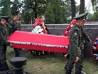 В Верхнем Мамоне состоялось перезахоронение советских воинов
