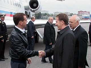 В Воронеж прилетел президент России Дмитрий Медведев
