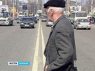 В Воронеже на 25 нерегулируемых пешеходных переходов стало меньше