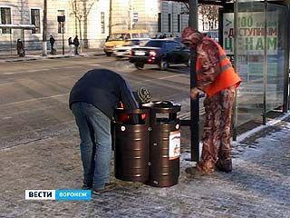 В Воронеже начали установку антивандальных урн