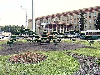 В Воронеже открылся цветочный фонтан