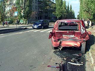 В Воронеже произошла крупная авария прямо у школьных ворот