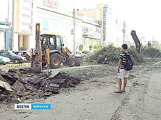 В Воронеже расширяют улицу Кольцовскую