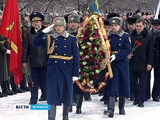 В Воронеже в преддверии Дня защитника отечества почтили память героев