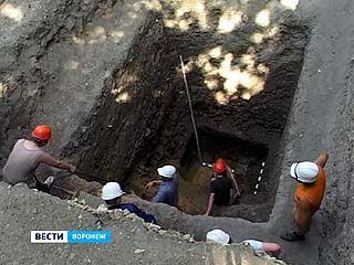 В Воронеже впервые идут раскопки в исторической части города