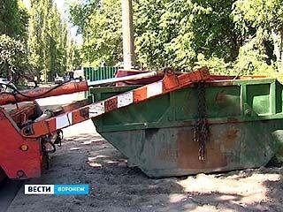 В воронежские дворы вернут контейнеры для крупногабаритного мусора
