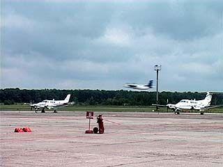 В Воронежском аэропорту начали принимать самолеты