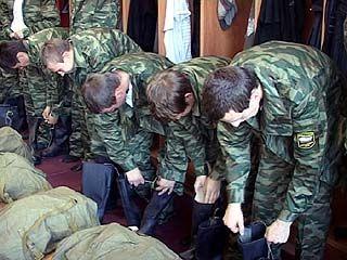 В войска отправилась первая партия призывников из Воронежской области