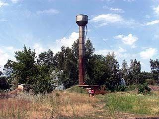 В Зареченском сгорел насос на водонапорной башне