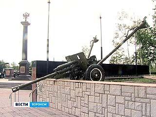 Вандалы сдвинули пушку возле Музея-диорамы