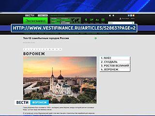 Воронеж, обогнав Москву и Петербург, занял четвёртое место в рейтинге самобытных городов