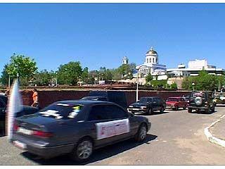 Воронеж покинут участники пробега спортсменов-автолюбителей