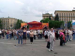 Воронеж присоединился к всероссийской минуте молчания