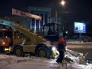 Воронеж завалило снегом