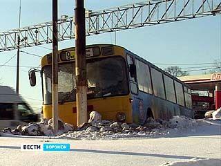 Воронежские автобусы не выдерживают морозов
