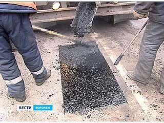 Воронежские коммунальщики научились латать ямы и в феврале