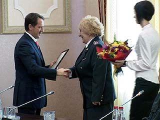 Воронежские милиционеры отмечают профессиональный праздник