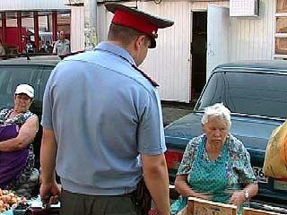 Воронежские милиционеры проверяли места торговли
