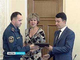 Воронежские спасатели получили награды за спасение детей