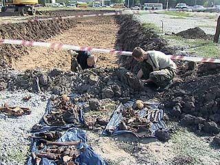 Воронежские строители опять наткнулись на человеческие останки