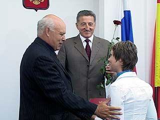 Воронежские строители принимают поздравления