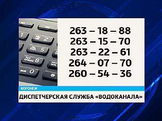 """Воронежский """"Водоканал"""" открыл """"горячую линию"""""""