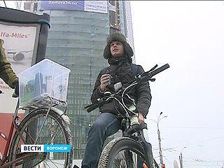 Воронежцев призвали ездить на работу на велосипедах круглый год