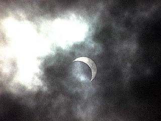Воронежцы могли наблюдать солнечное затмение