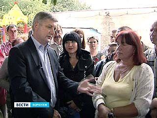 Воронежцы рассказали о проблемах своих дворов Александру Гусеву
