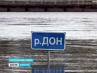 Вторая волна паводка вызвала рекордный разлив Дона в Богучарском районе