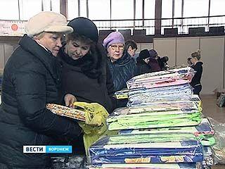 """Выставка-продажа домашнего текстиля открылась в спорткомплексе """"Энергия""""."""