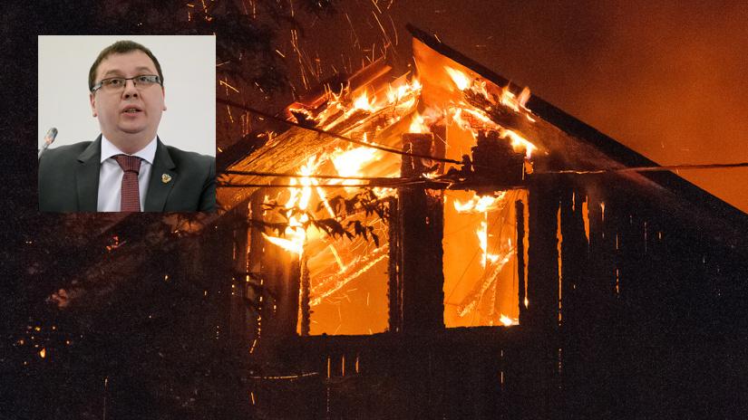 Дом после двух иномарок. Ректор Воронежского опорного вуза в третий раз стал жертвой поджога