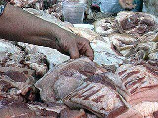 Зараженное мясо из Грибановского района попало на московский рынок