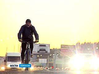 Защитник прав воронежских автомобилистов Николай Кисилёв пересел на велосипед