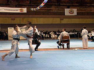 Завершилось чемпионат области по рукопашному бою