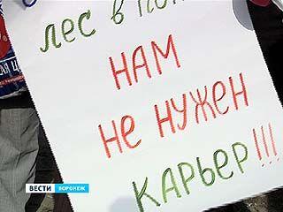 """Жители микрорайона """"Новый"""" вышли на пикет против вырубки леса"""