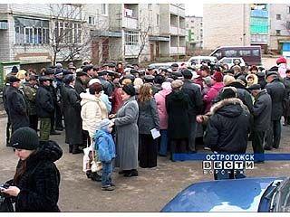 Жители Острогожска устроили митинг против отключения тепла