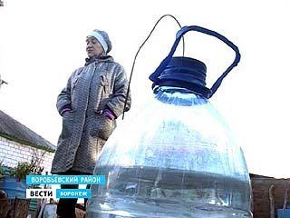 Жители Воробьевского района за водой ездят за 25 километров