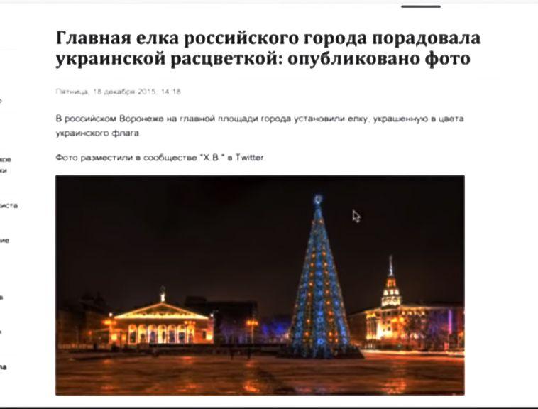 Знаменитый видеоблогер Анатолий Шарий разоблачил «украинскую» ёлку в Воронеже