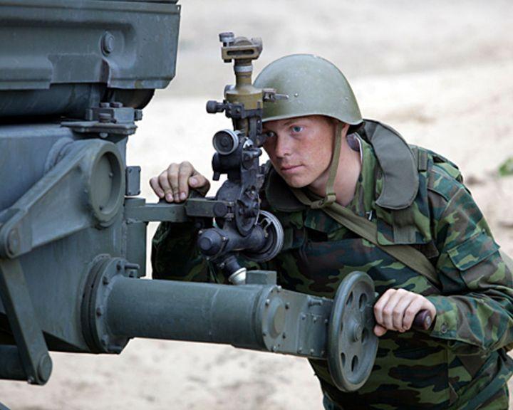 Части 20-й армии провели учения сбоевой стрельбой наполигоне под Воронежем