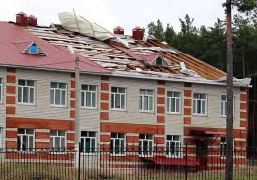 Шквалистый ветер сорвал крышу школы вВоронежской области