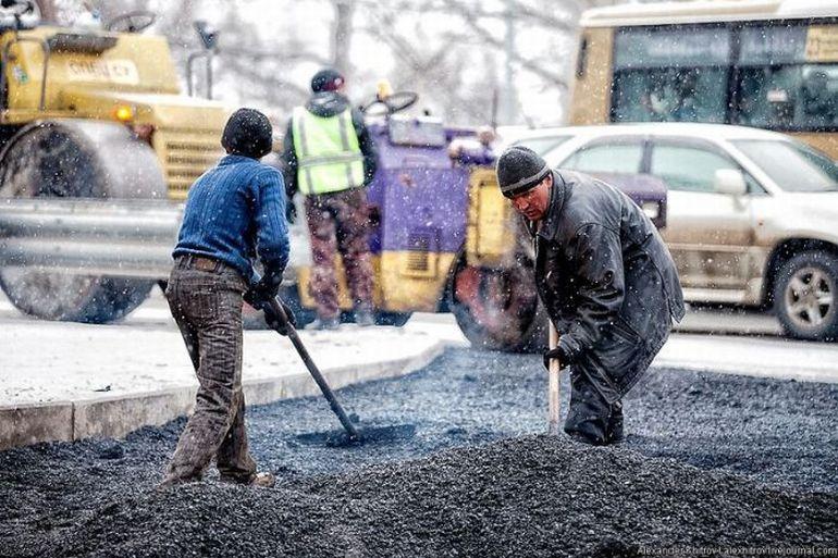 ВВоронеже непогода тормозит ремонт дорог