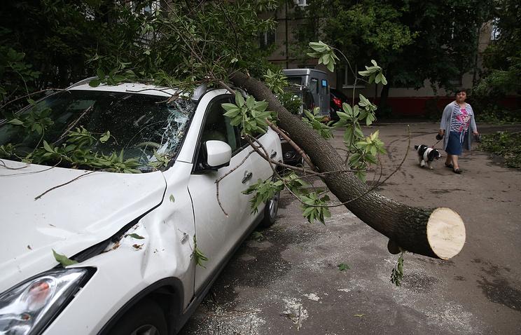 Ущерб владельцев автомобилей отстихии вМоскве составил примерно 200 млн рублей