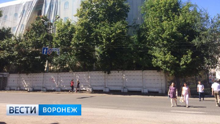 ВВоронеже наплощади Ленина снесли пешеходный проход мимо дома №6