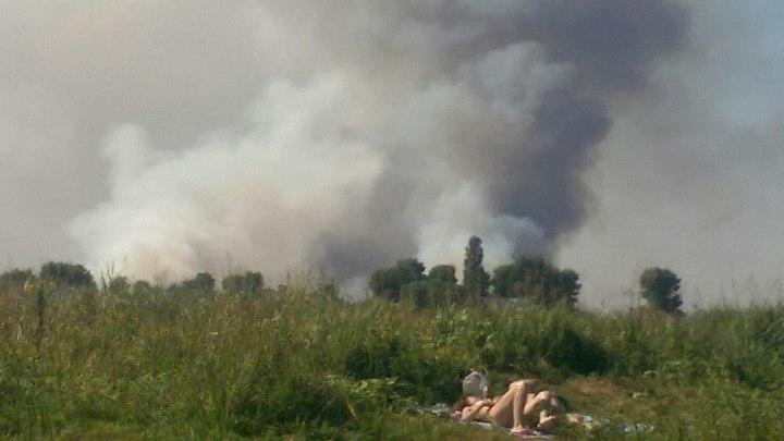 Cотрудники экстренных служб устранили природный пожар вВоронеже