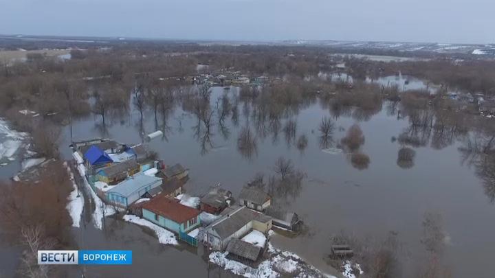 ВВоронежской области затопило три моста