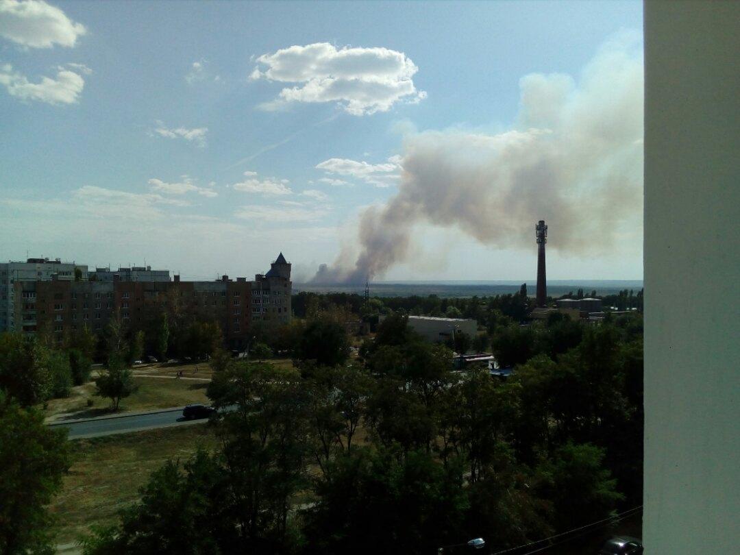 Навоенном полигоне под Воронежем— пожар
